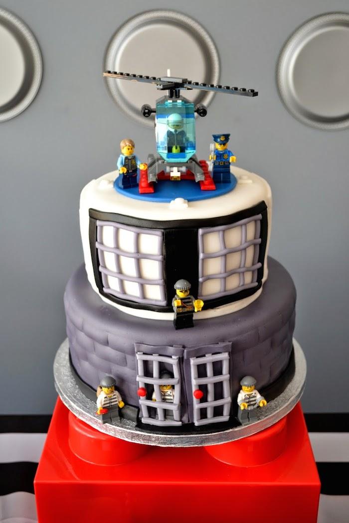 LEGO Police Birthday Party Cake