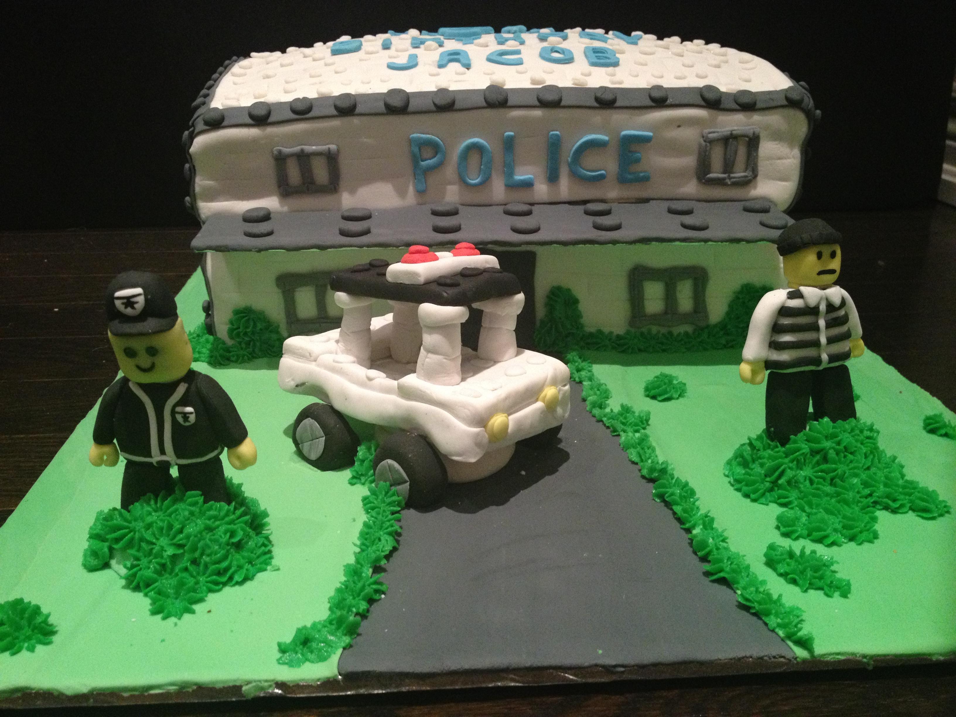 LEGO Themed Birthday Cake Police