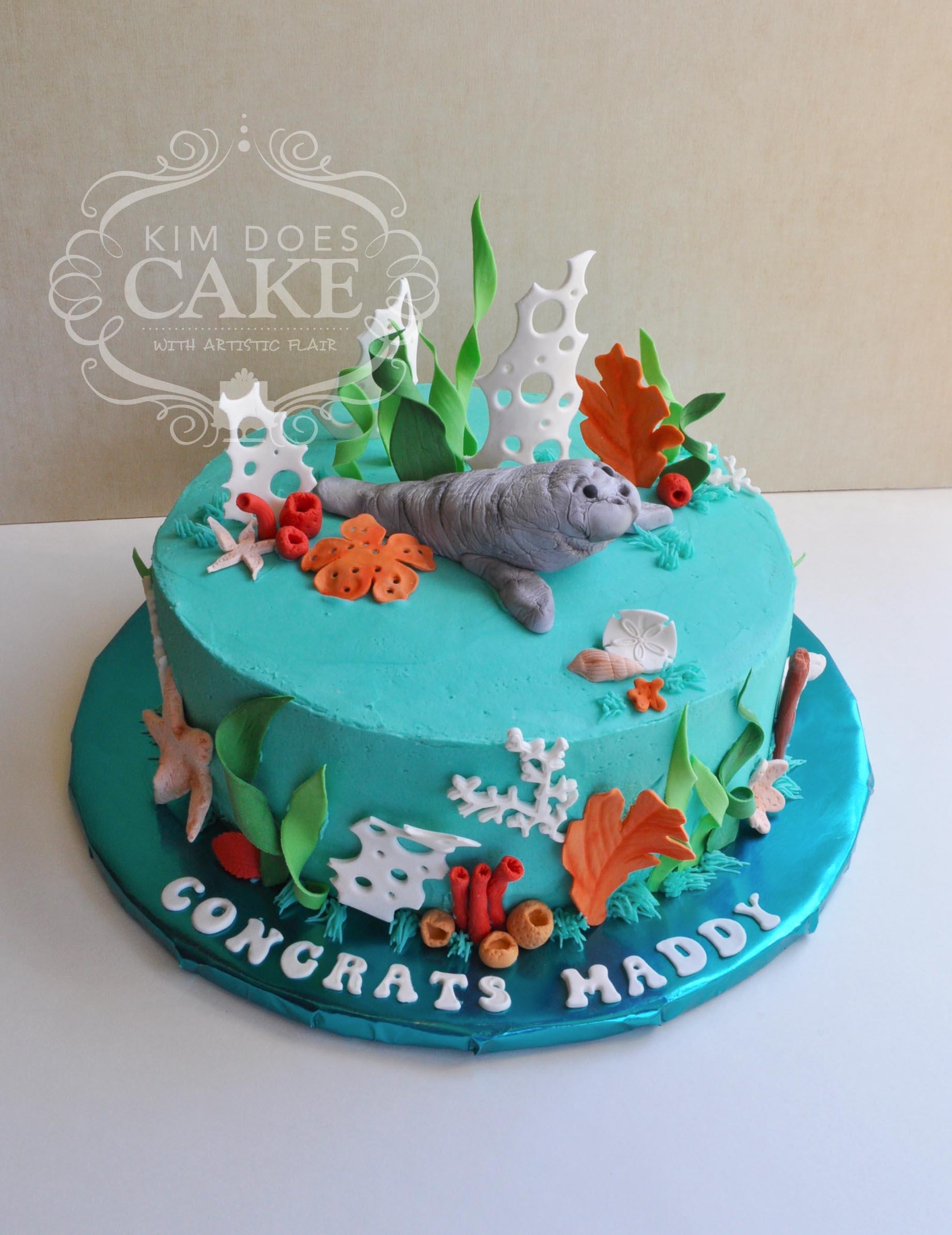 Marine Biologist Birthday Cake
