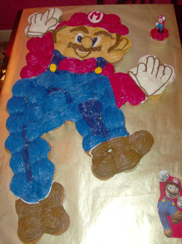 Mario Pull Apart Cupcake Cake