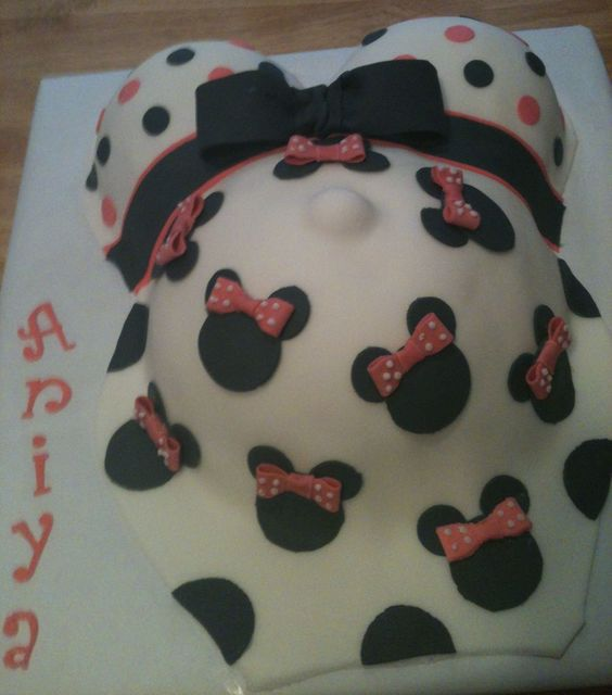 Minnie Mouse Baby Shower Cake Pregnant