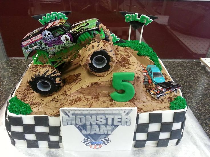 Monster Jam Truck Birthday Cake