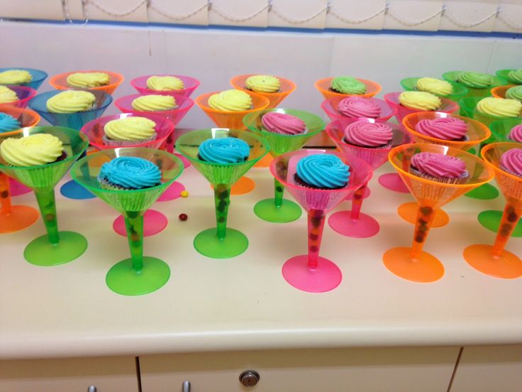Neon Party Ideas Birthday Cupcakes