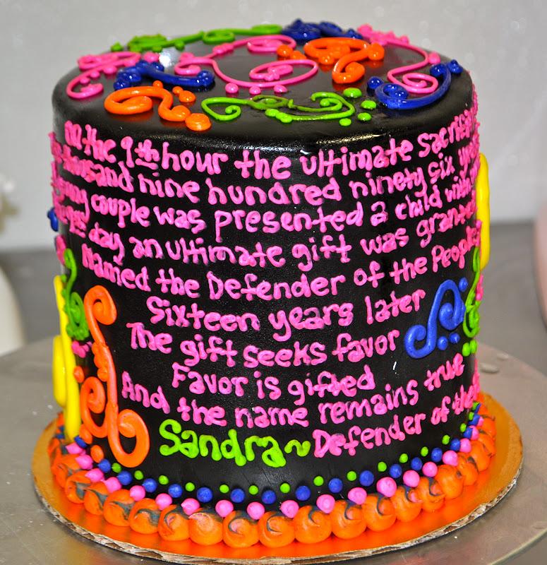 Neon Tie Dye Birthday Cake