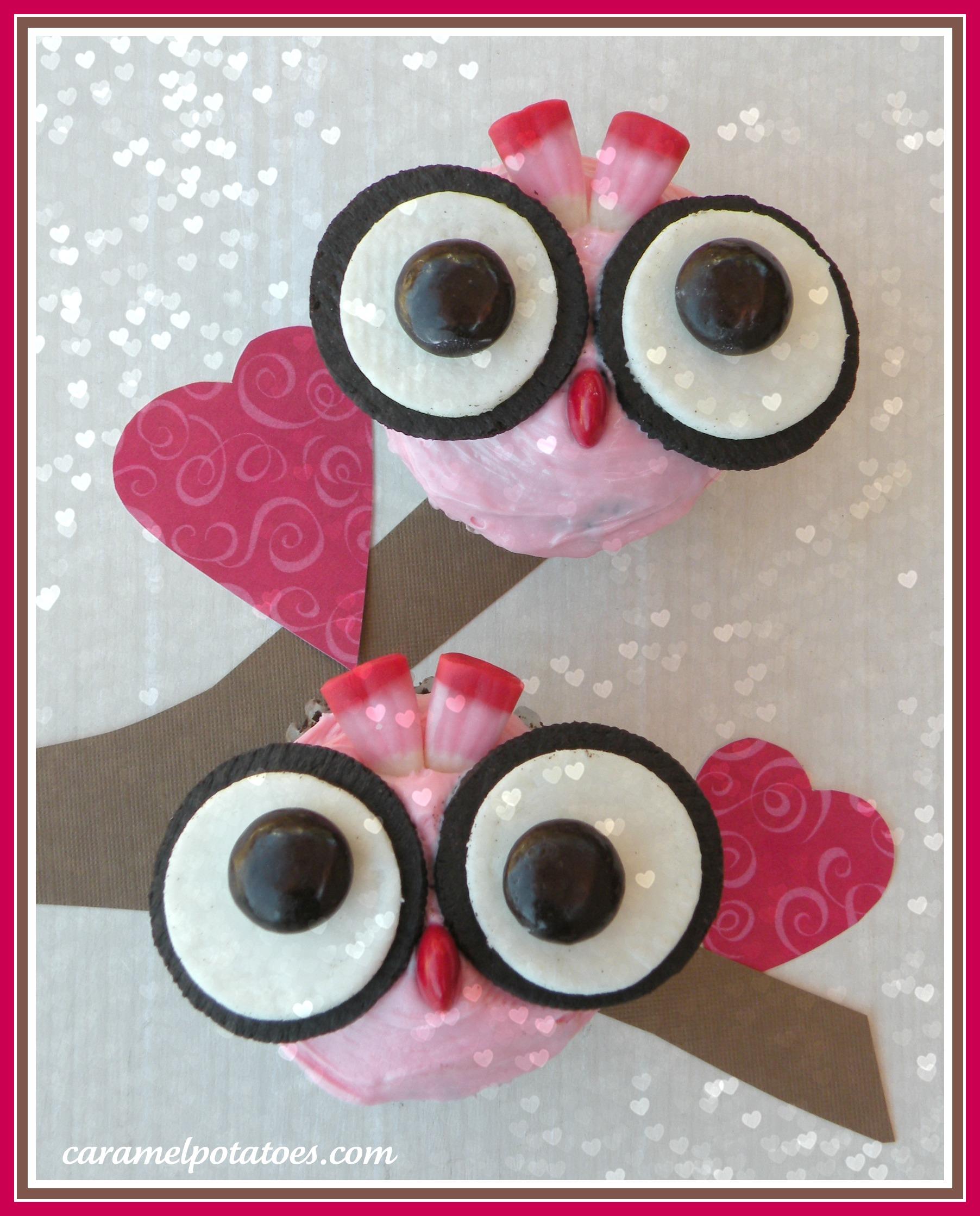 8 Photos of Owl Valentine's Day Cupcakes