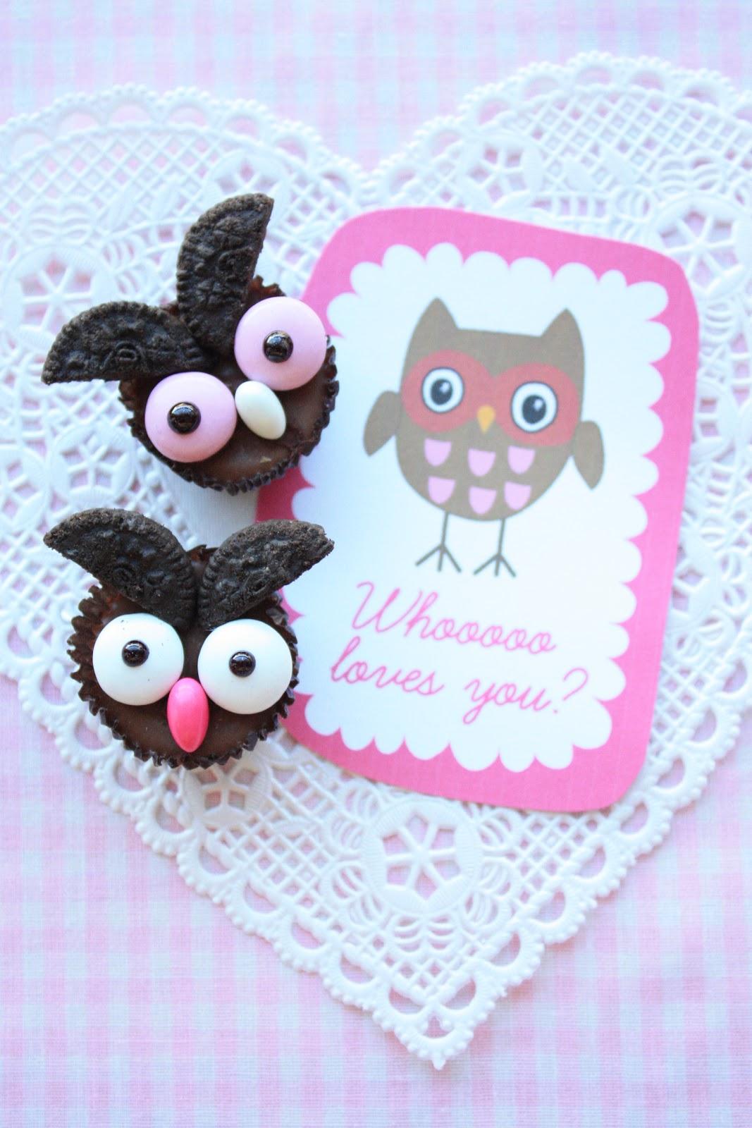 Owl Valentine Cupcakes Decorating Ideas