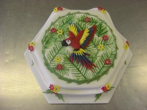 Parrots Tropical Cake Decorations