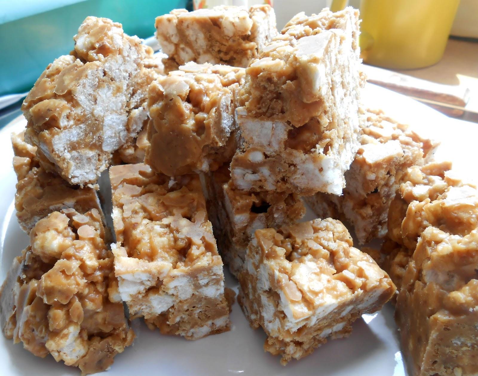Peanut Butter Bars Recipe Rice Cereal