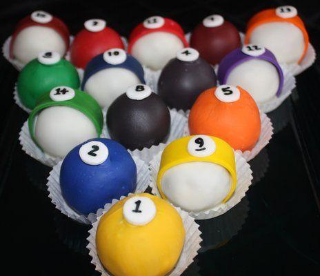 Pool Table Cake Balls