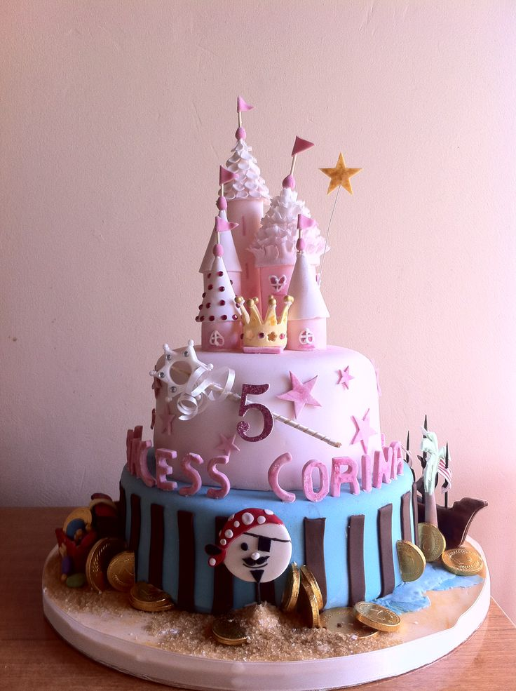 Princess and Pirates Birthday Cake