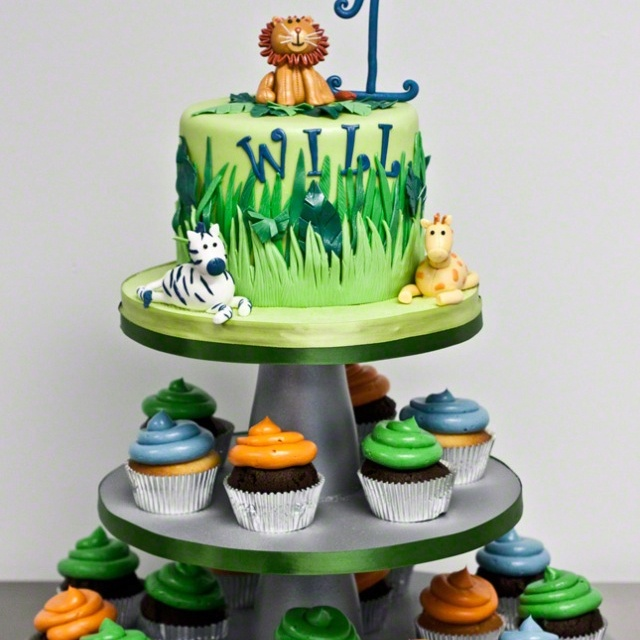 Rainforest Birthday Party Cakes