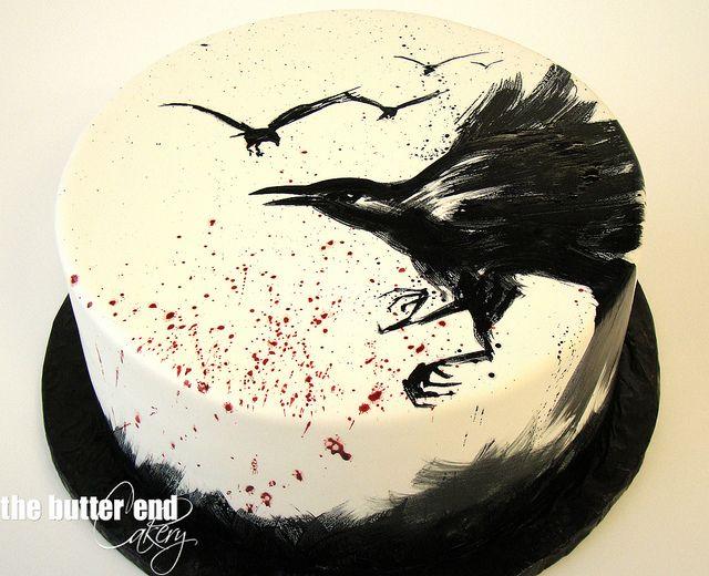 Raven Birthday Cake