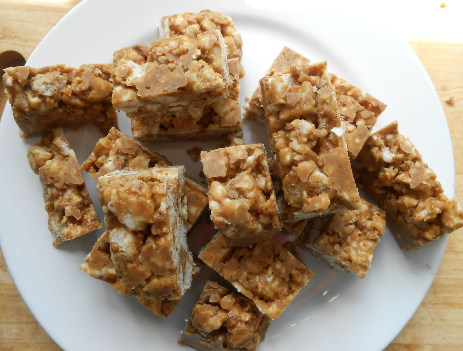 Rice and Peanut Butter Cake