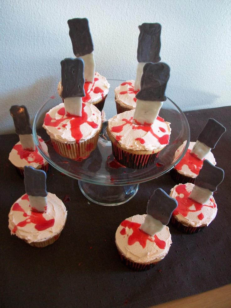 Scary Halloween Food Cupcakes
