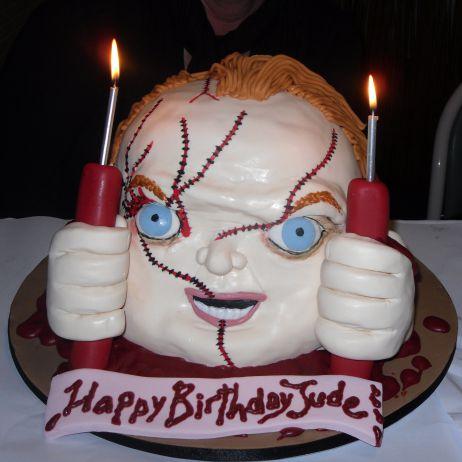 Scary Happy Birthday Cake