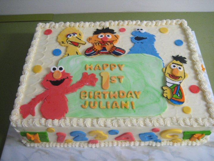 10 Photos of Sesame St Birthday Cakes