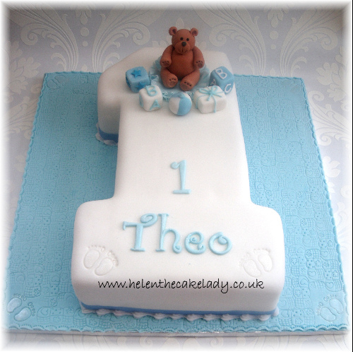 Simple Boy 1st Birthday Cake