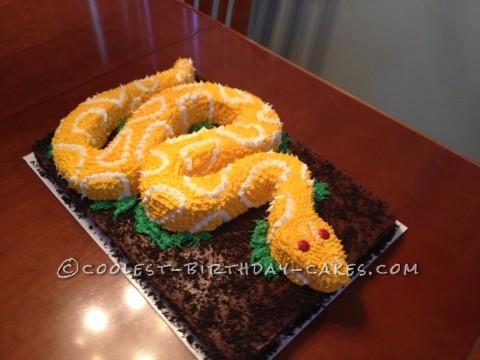 Snake Birthday Cake