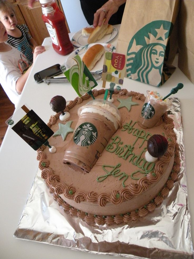 Starbucks Birthday Cake Ideas