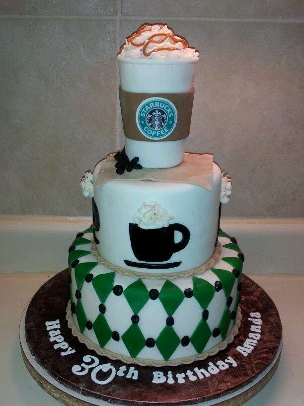 Starbucks Themed Birthday Cake