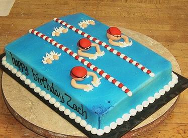 Swimming Birthday Cake Ideas