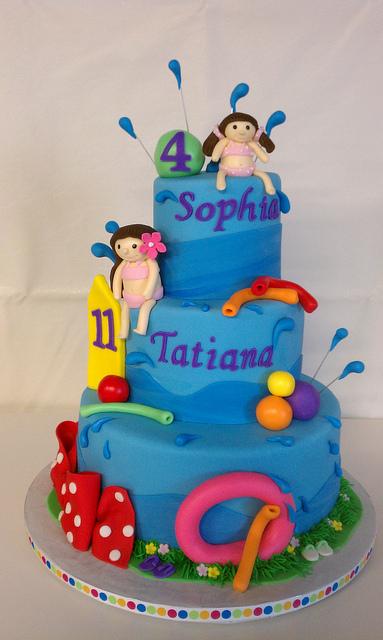 Swimming Pool Themed Cake