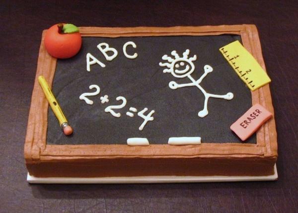 Teacher Chalkboard Cake
