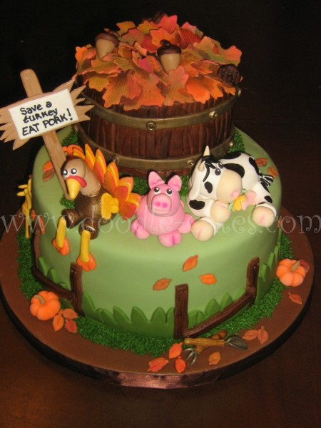 Thanksgiving Fall Cake