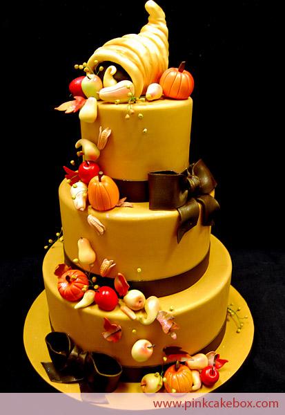 Thanksgiving Wedding Cake