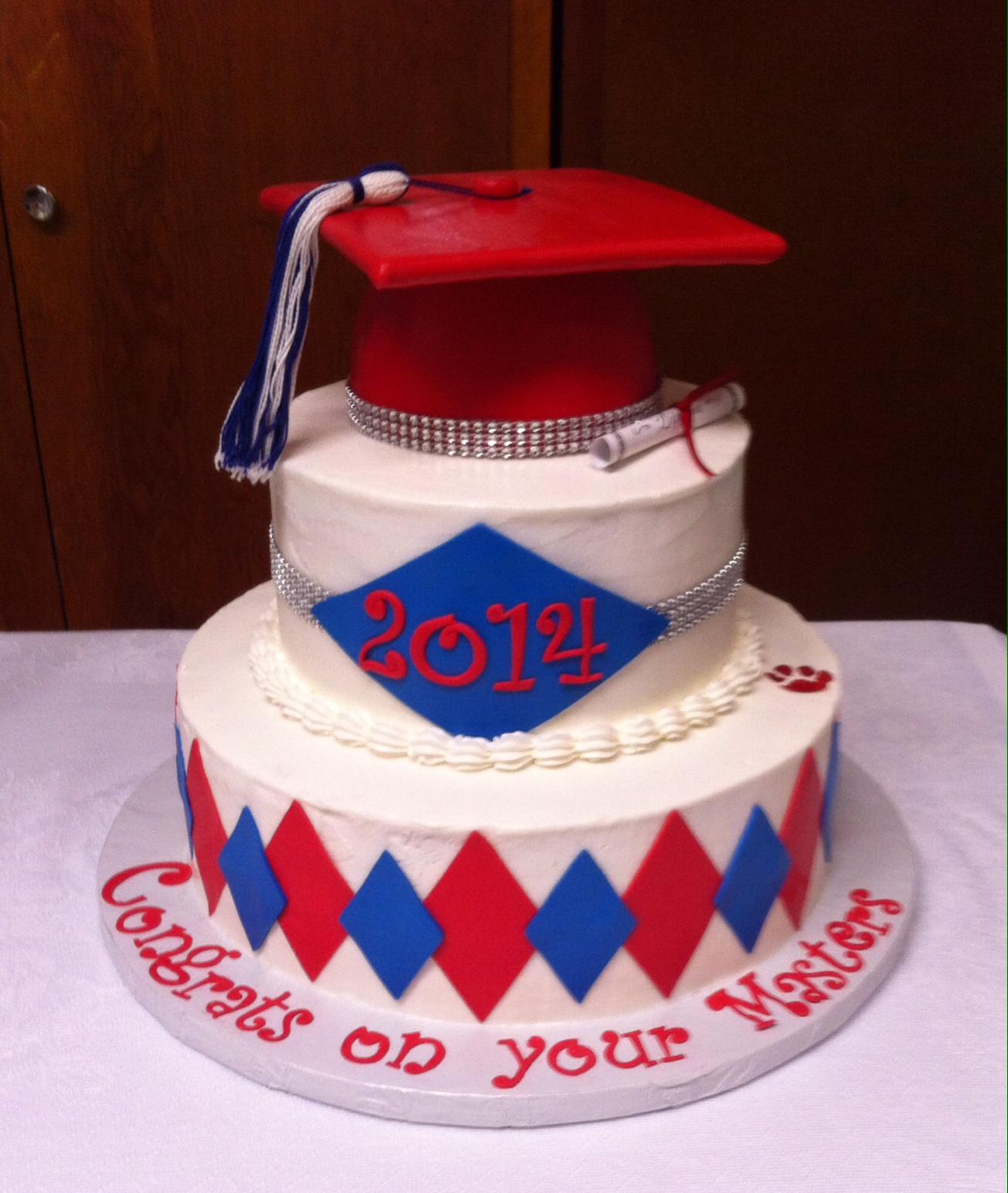 Three-Tiered Graduation Cake