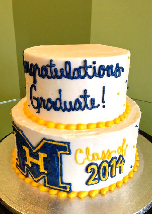 Tiered Graduation Cake Cupcake