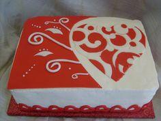 Valentine Birthday Sheet Cake