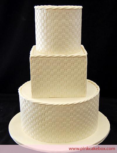 Wedding Cake with Basketweave