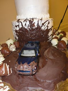 Wedding Cake with Mud Truck