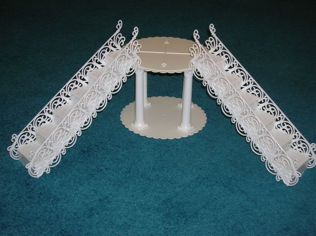 Wedding Cakes with Stairs and Bridge