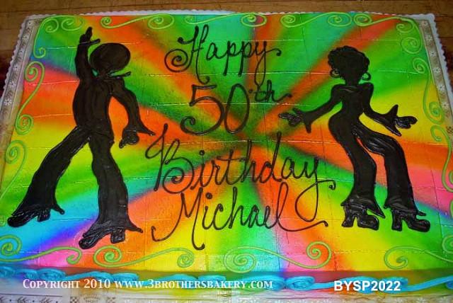 70s Disco Birthday Cake