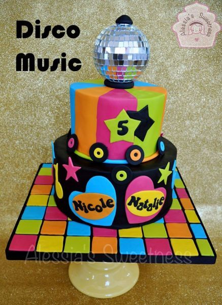 70s Theme Birthday Cake