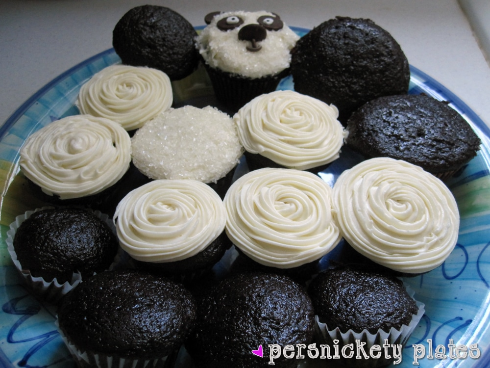 Adorable Panda Cupcakes Chocolate