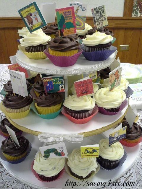 Baby Shower Book Theme Cupcake