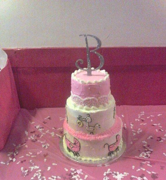 Baby Shower Cake with Diamonds