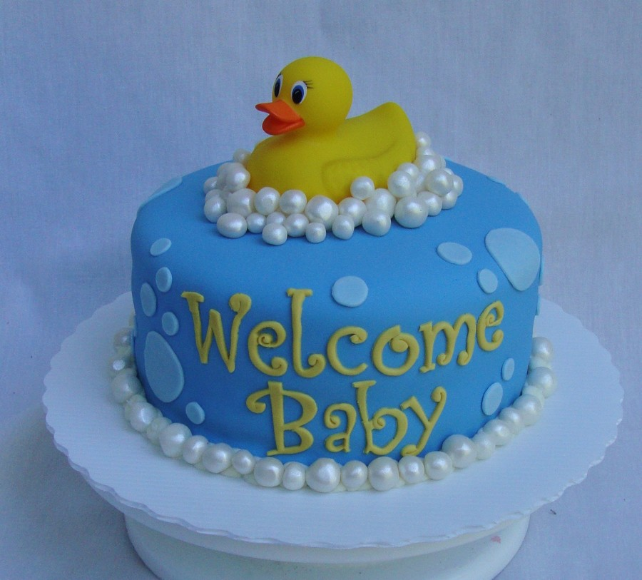 Baby Shower Cake with Rubber Duck