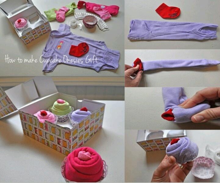Baby Shower Cupcake Onesies Gift Idea