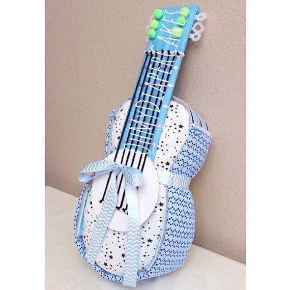 Baby Shower Diaper Cake Guitar