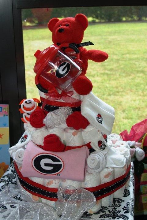 11 Photos of GA Bulldog Baby Shower Cakes