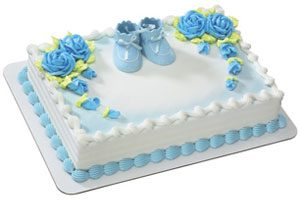 Baby Shower Ice Cream Cake