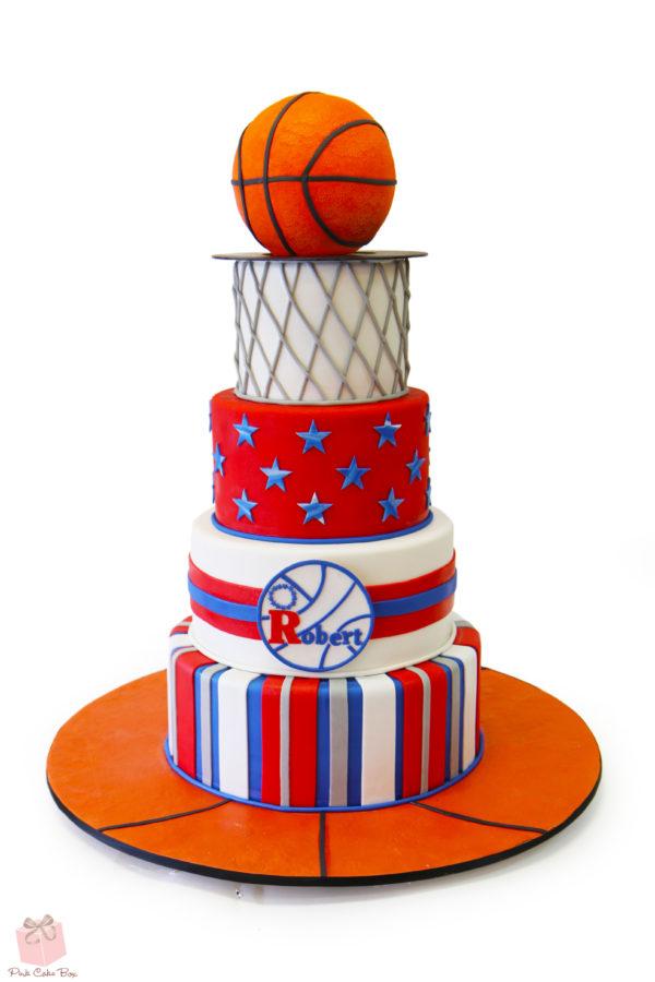 Basketball Bar Mitzvah Cake