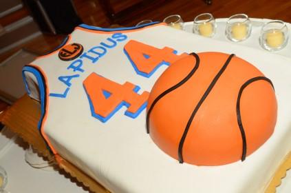 Basketball Themed Bar Mitzvah Cake