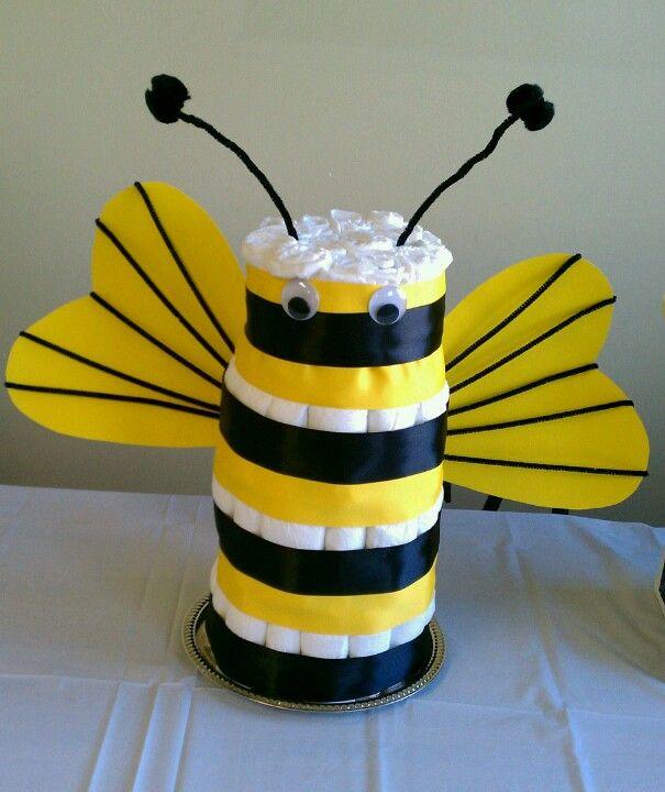 Bee Baby Shower Diaper Cake