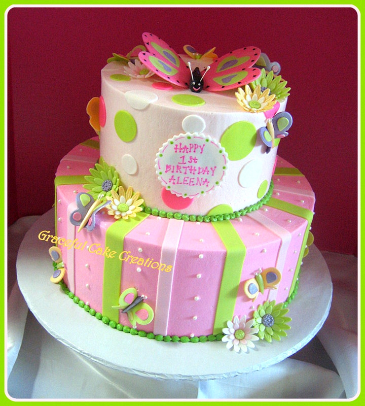 Birthday Cake and Butterflies