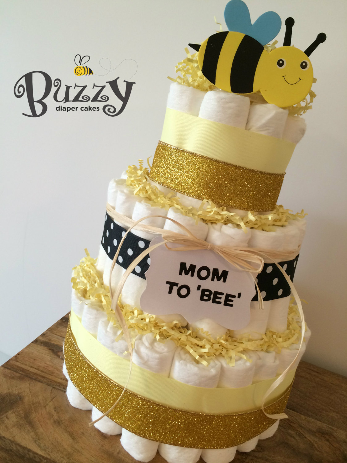 Bumble Bee Baby Shower Diaper Cakes